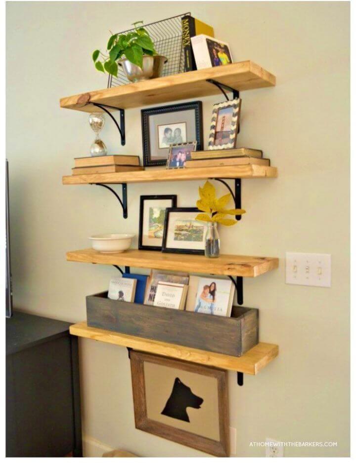 Gorgeous DIY Rustic Wood Shelves