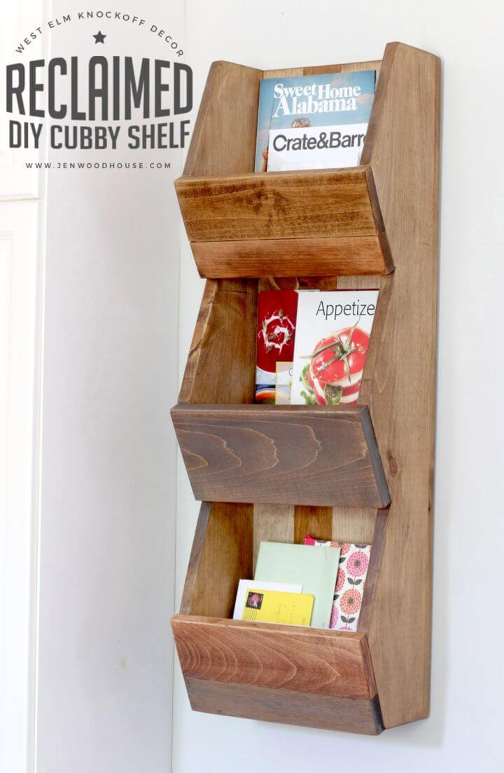 Gorgeous DIY West Elm inspired Cubby Shelf