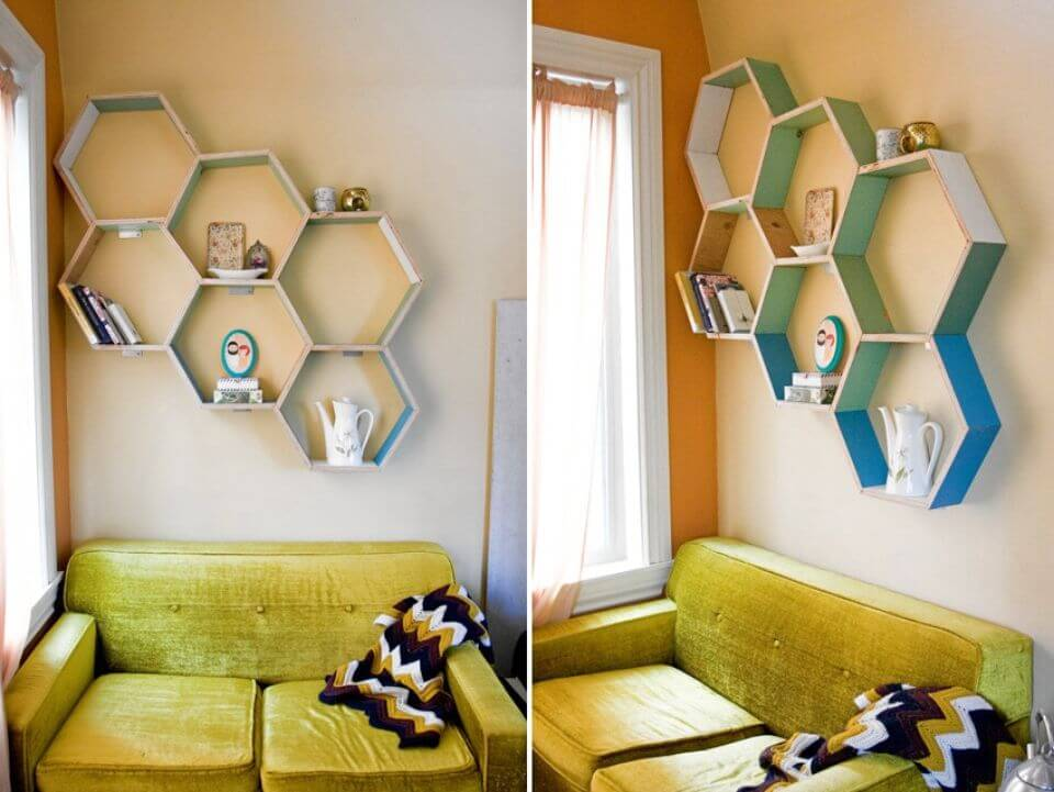 How To Build Honeycomb Shelves
