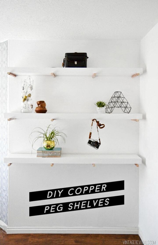 How To DIY Copper Peg Shelves