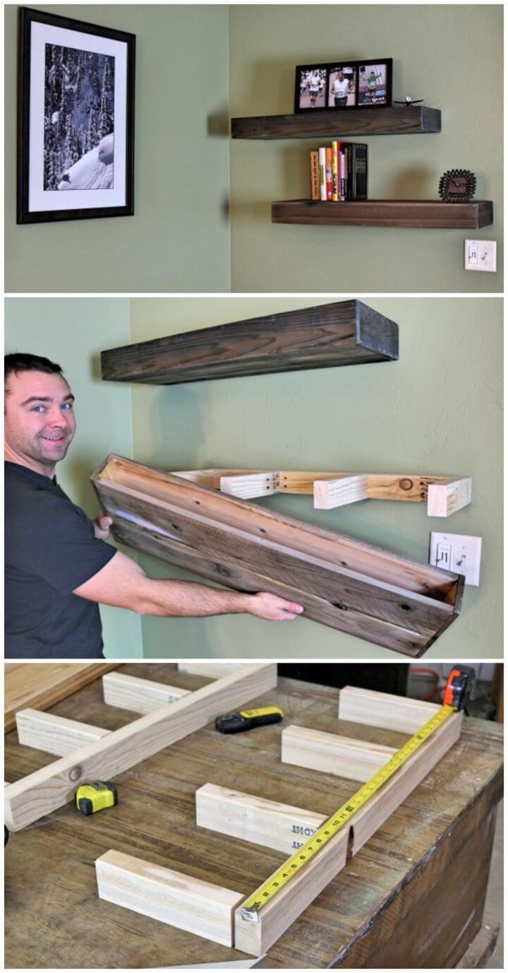 How To DIY Wood Floating Shelf