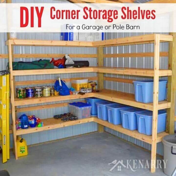 How To Make Corner Shelves For Garage