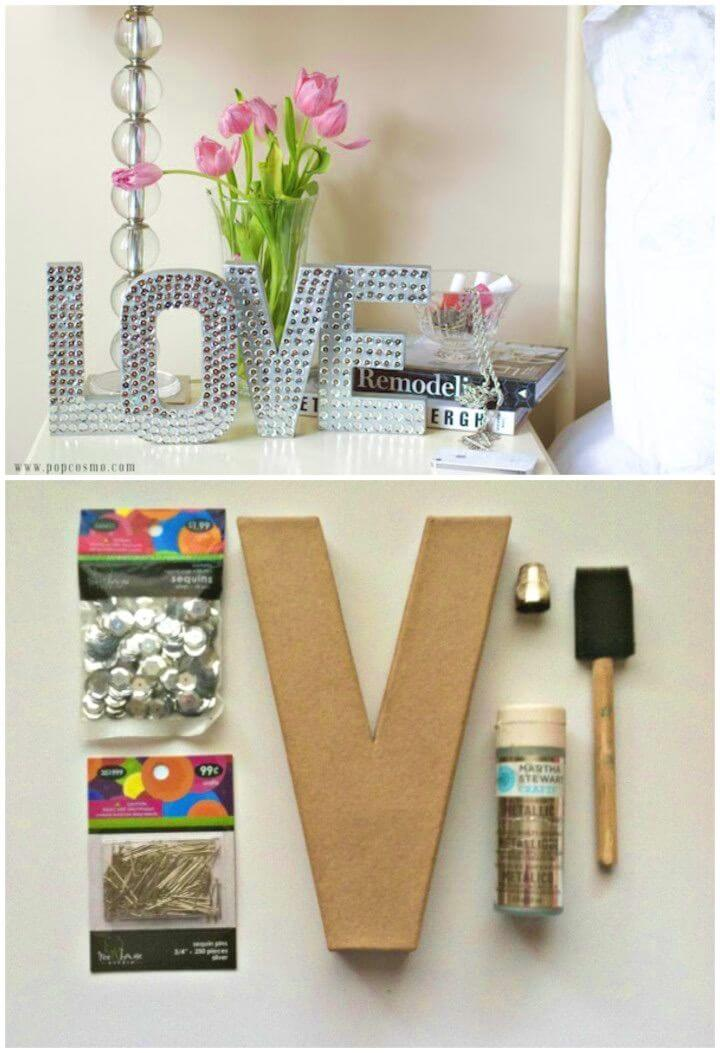 How To Make Disco Love Sign
