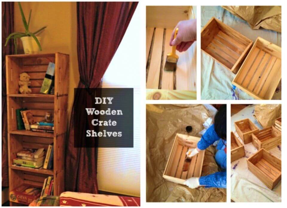 How To Make Wooden Crates Bookshelf