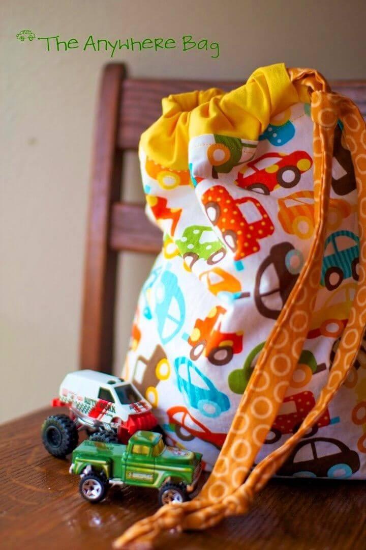 How To Sew Toy Storage Bag