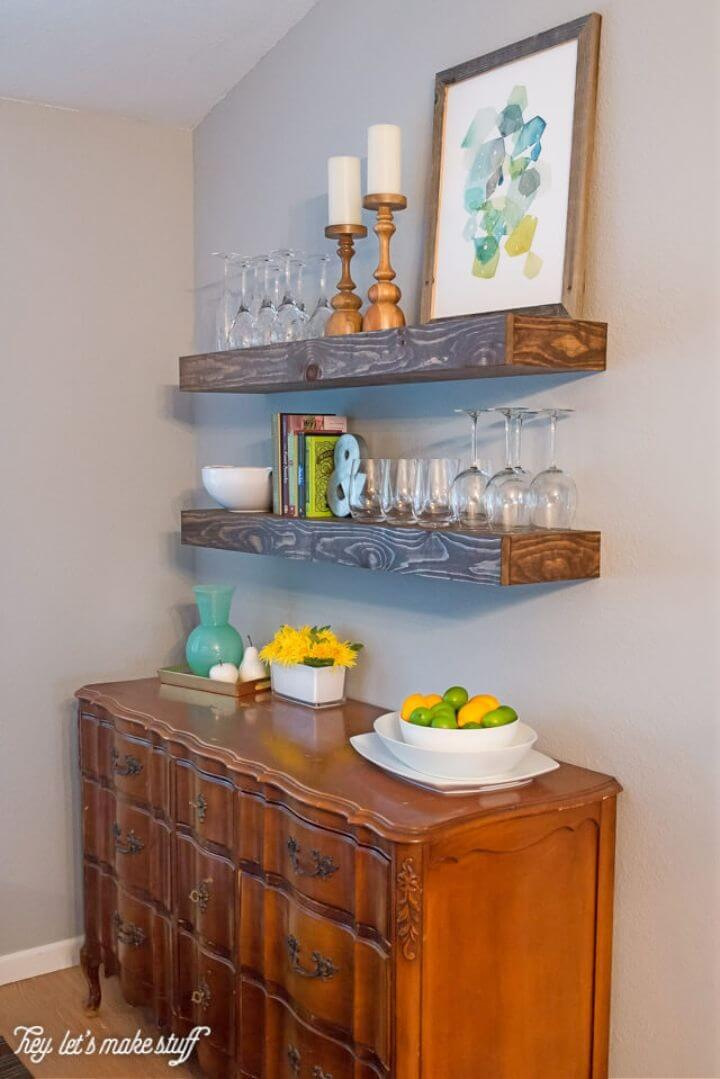 How to Build Chunky Floating Shelve