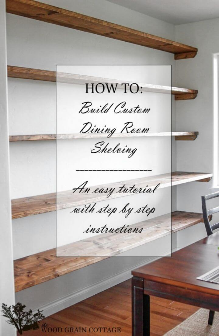 How to Build Dining Room Open Shelving