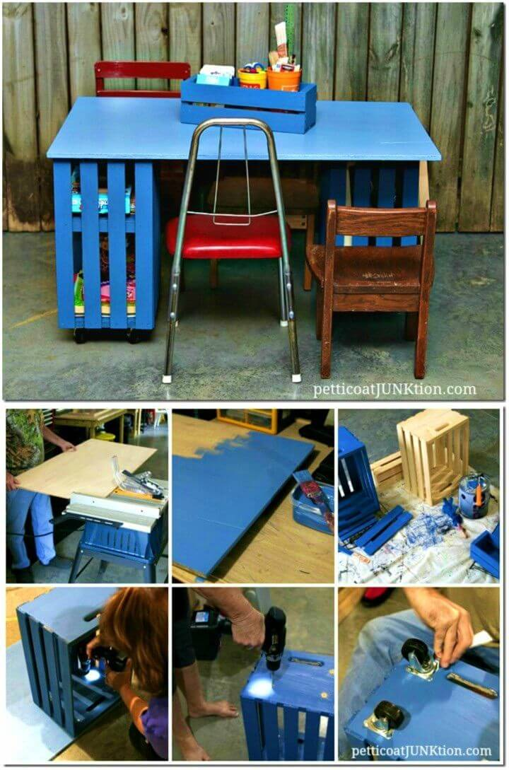 How to Build Kids Crate Table