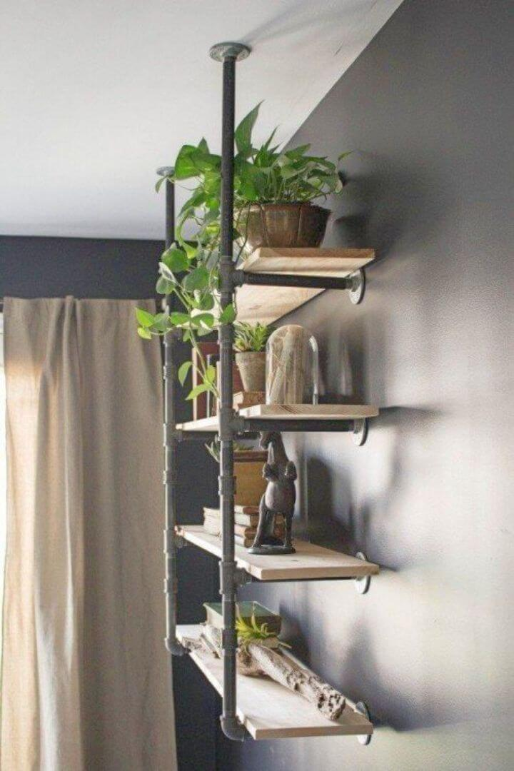 How to Build Open Pipe Shelving