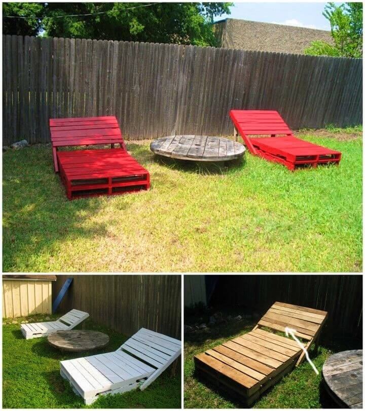 How to Build Pallet Garden Loungers