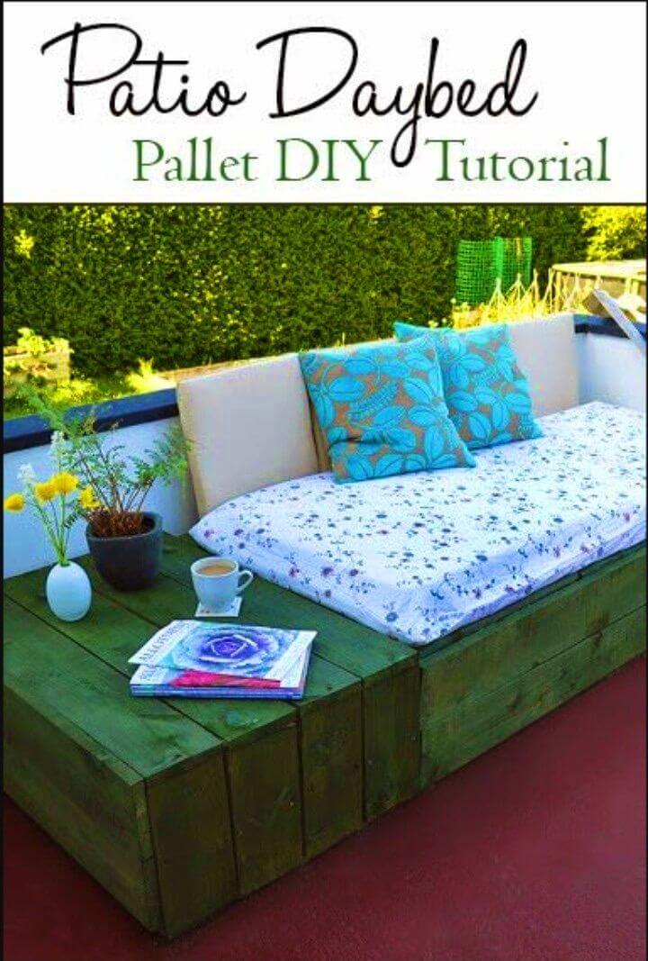 How to Build Pallet Patio Day Bed