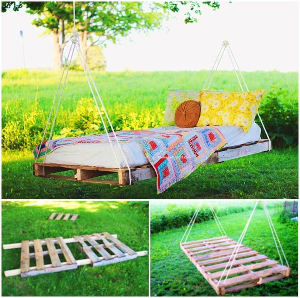 How to Build Pallet Swing Bed