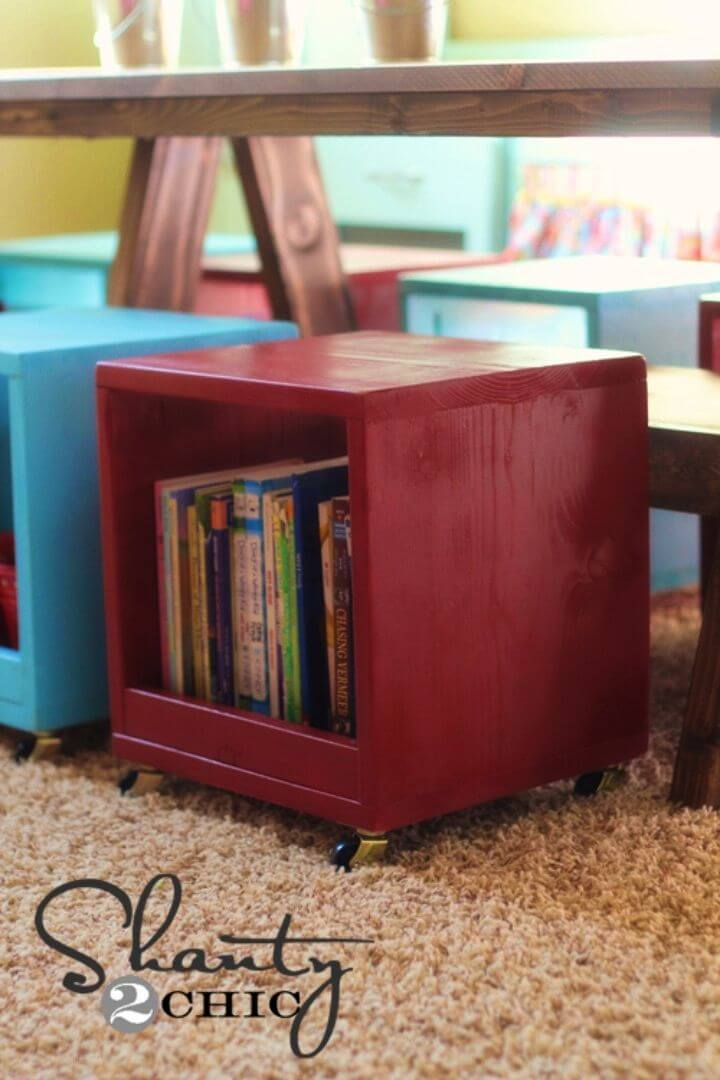 How to Build Rolling Storage Cube Stools