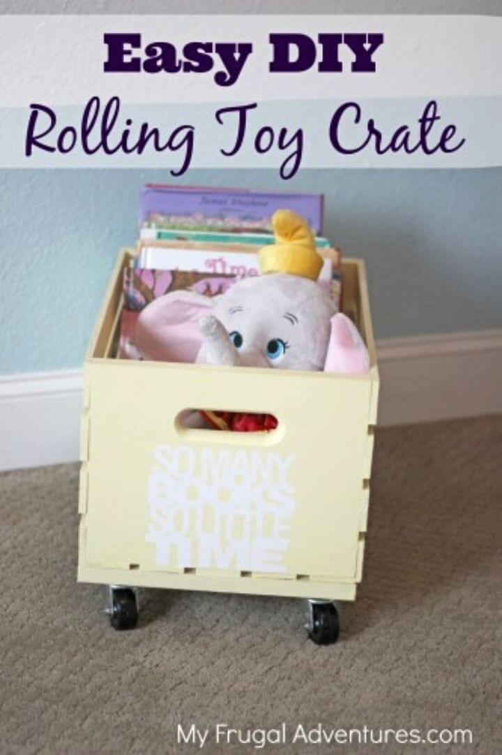 How to Build Rolling Toy Storage Crate