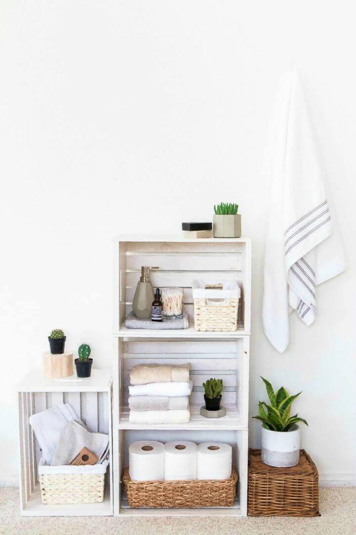 How to Build Shelves Bathroom Organizer