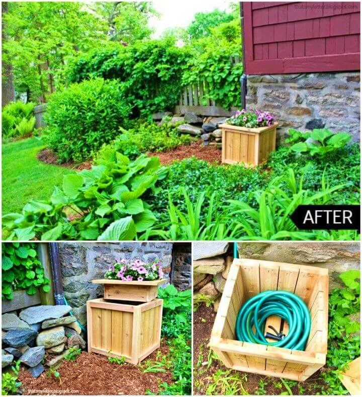 How to Build a Hose Hiding Planter
