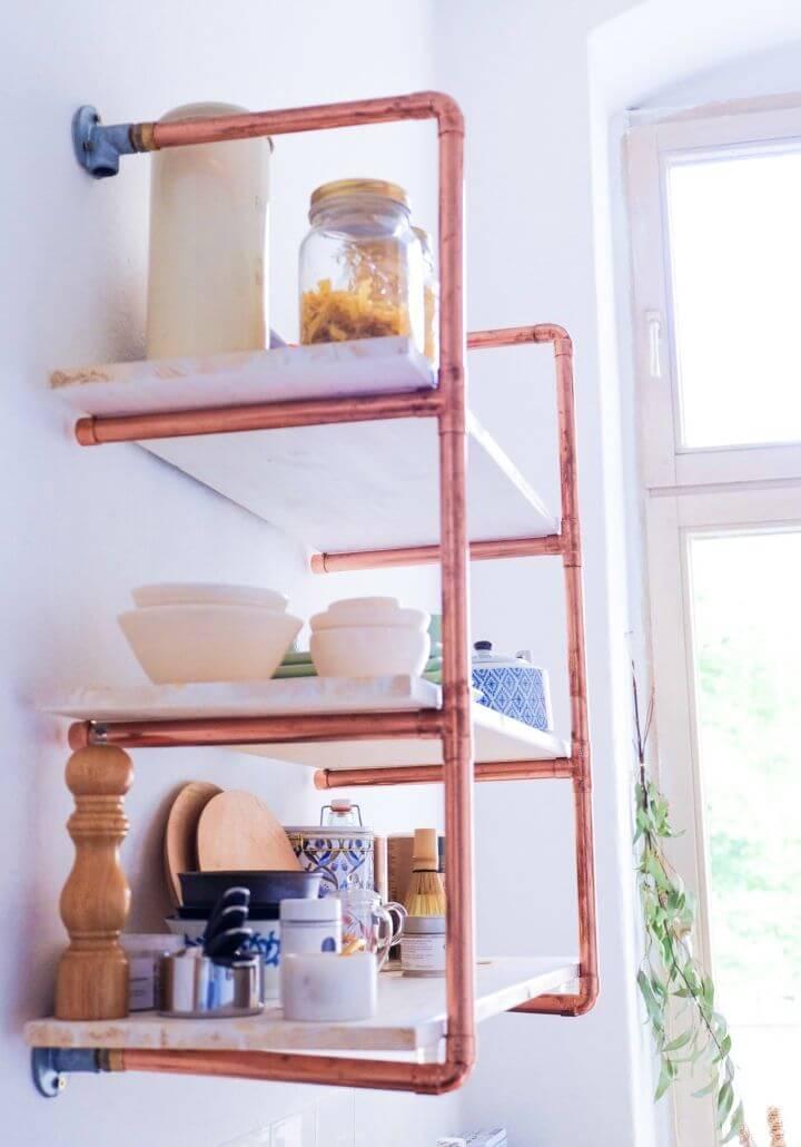 How to DIY Copper Pipe Shelf
