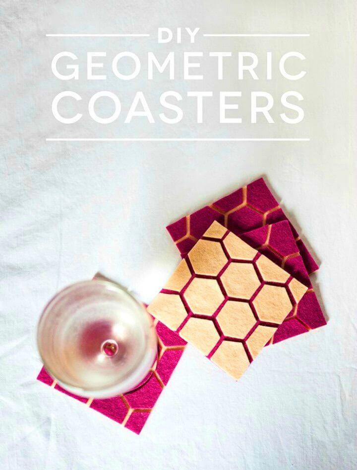 How to DIY Geometric Coasters