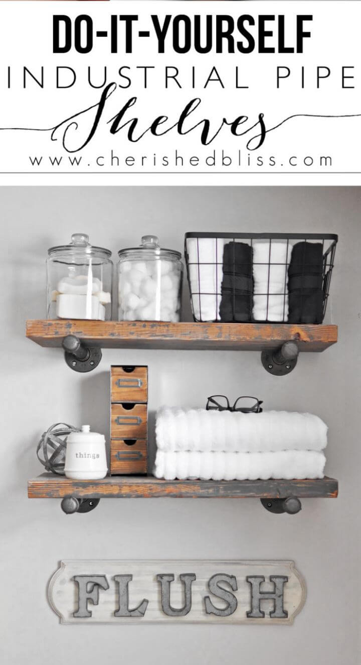 How to DIY Industrial Pipe Shelves