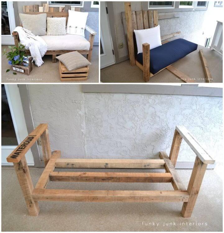 How to DIY Outdoor Pallet Wood Sofa