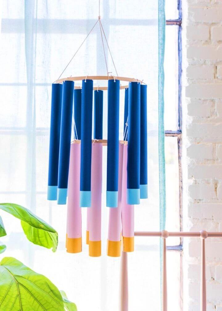 How to DIY Paper Tube Chandeliers