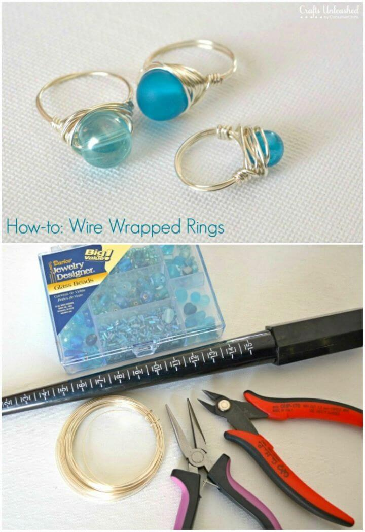 How to DIY Wrapped Wire Rings