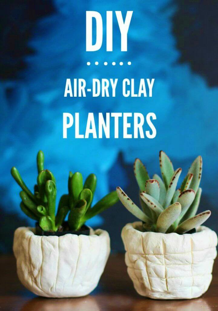How to Make Air dry Clay Planters