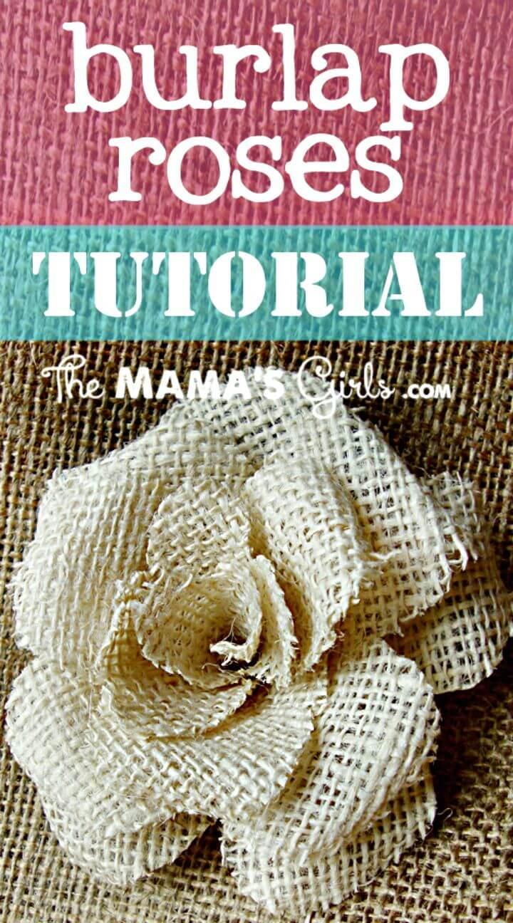 How to Make Burlap Rose