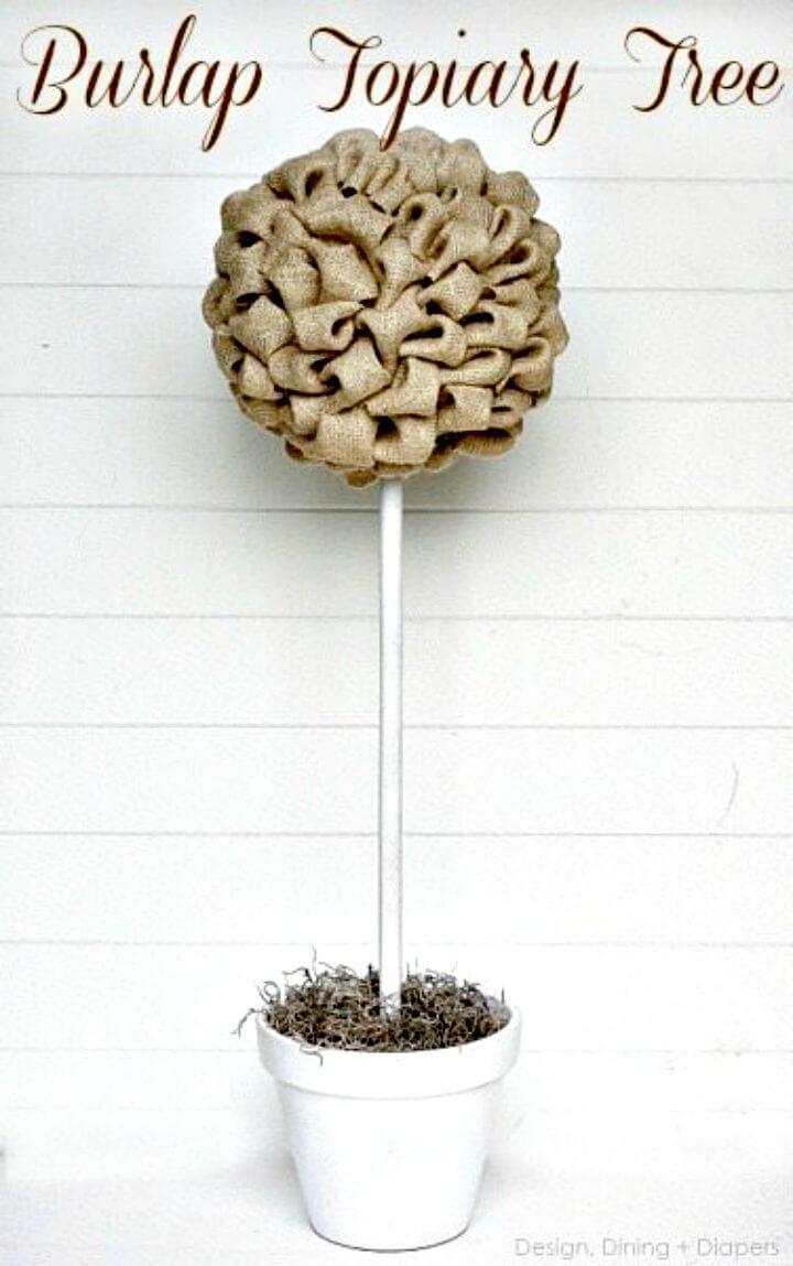 How to Make Burlap Topiary Tree