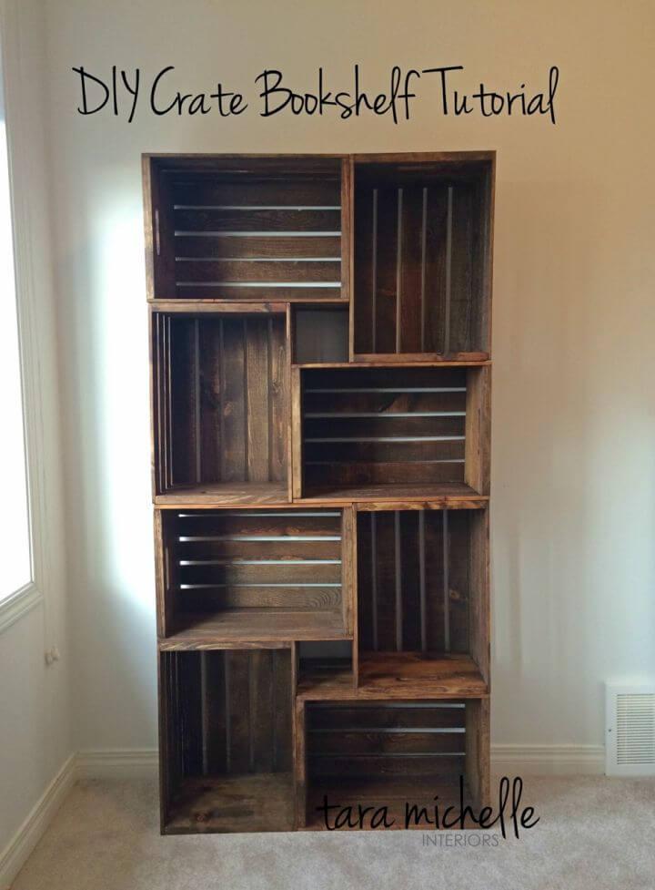 How to Make Crate Bookshelf