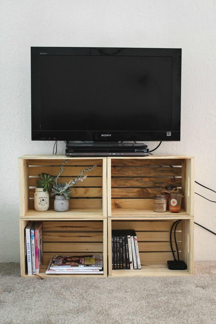 How to Make Crate TV Stand