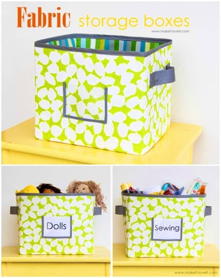 How to Make Fabric Storage Boxes