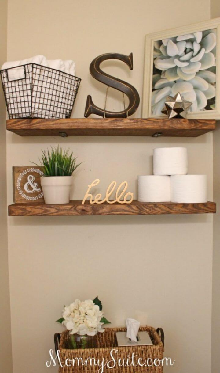 How to Make Faux Floating Shelves