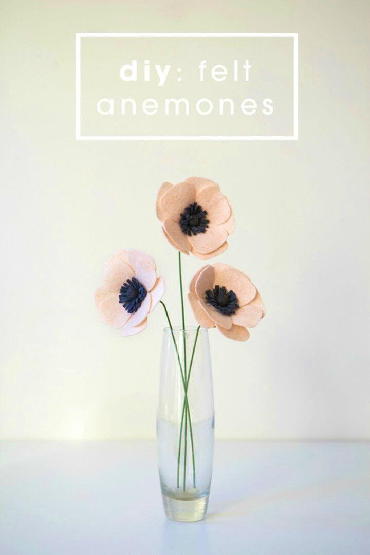 How to Make Felt Anemone