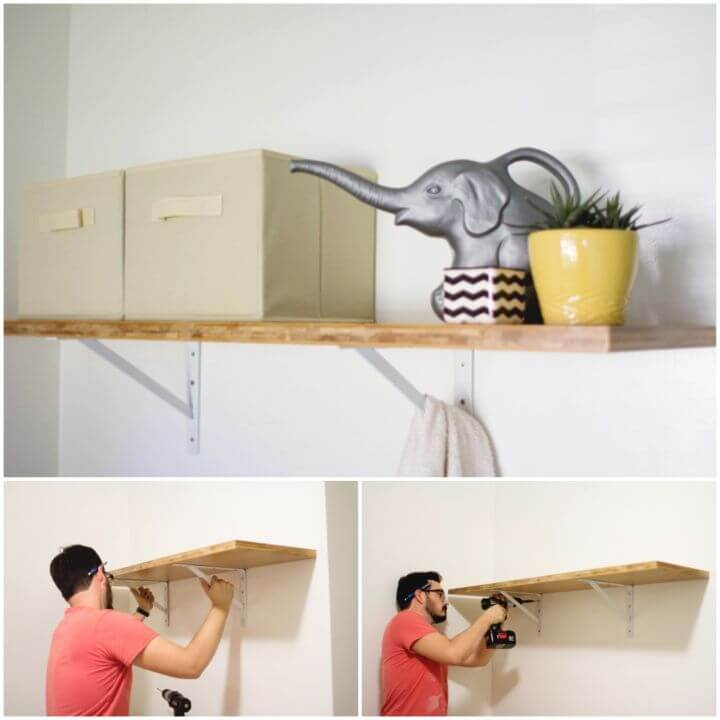How to Make Laundry Room Shelf