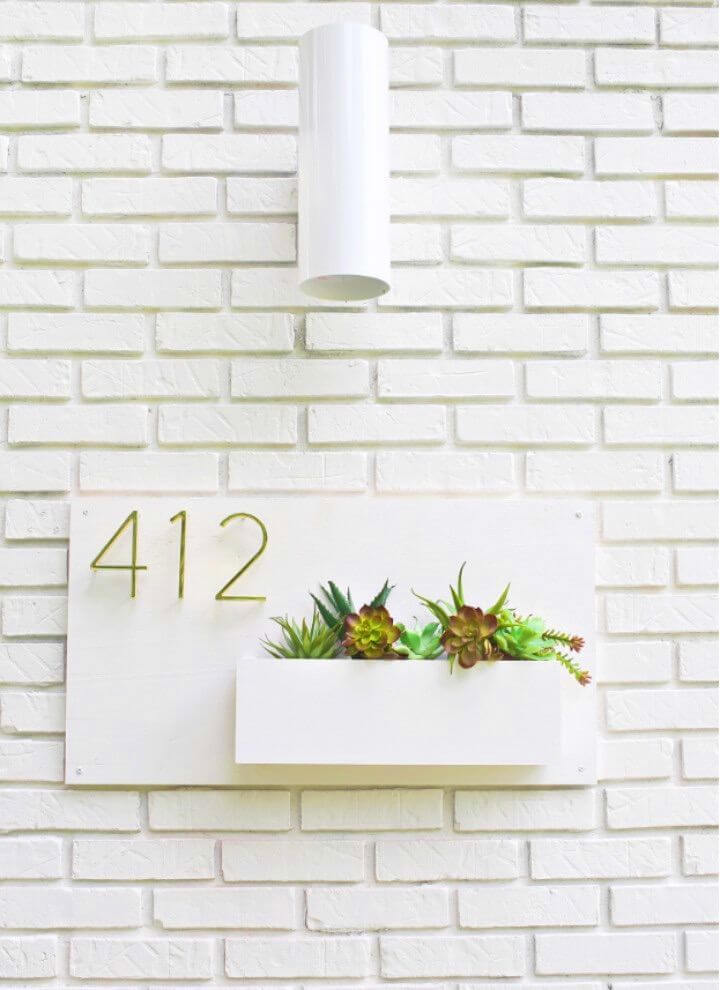 How to Make Modern House Number Planter