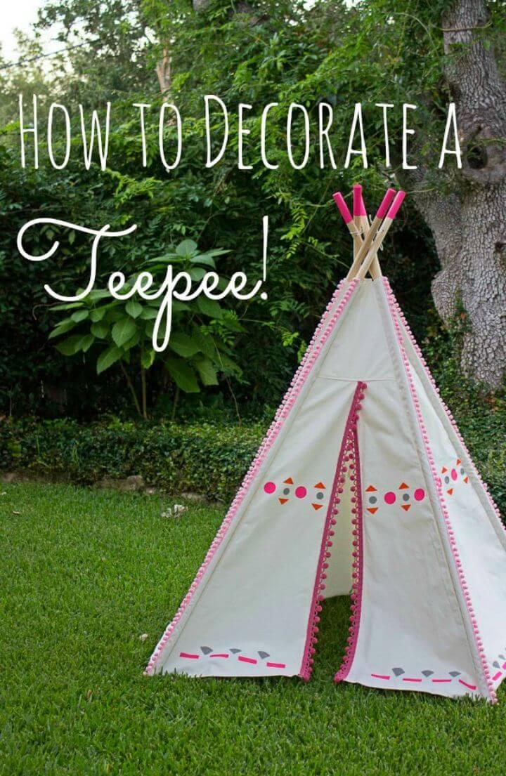 How to Make Painted Kids Teepee