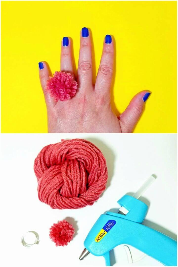 How to Make Pom Pom Rings