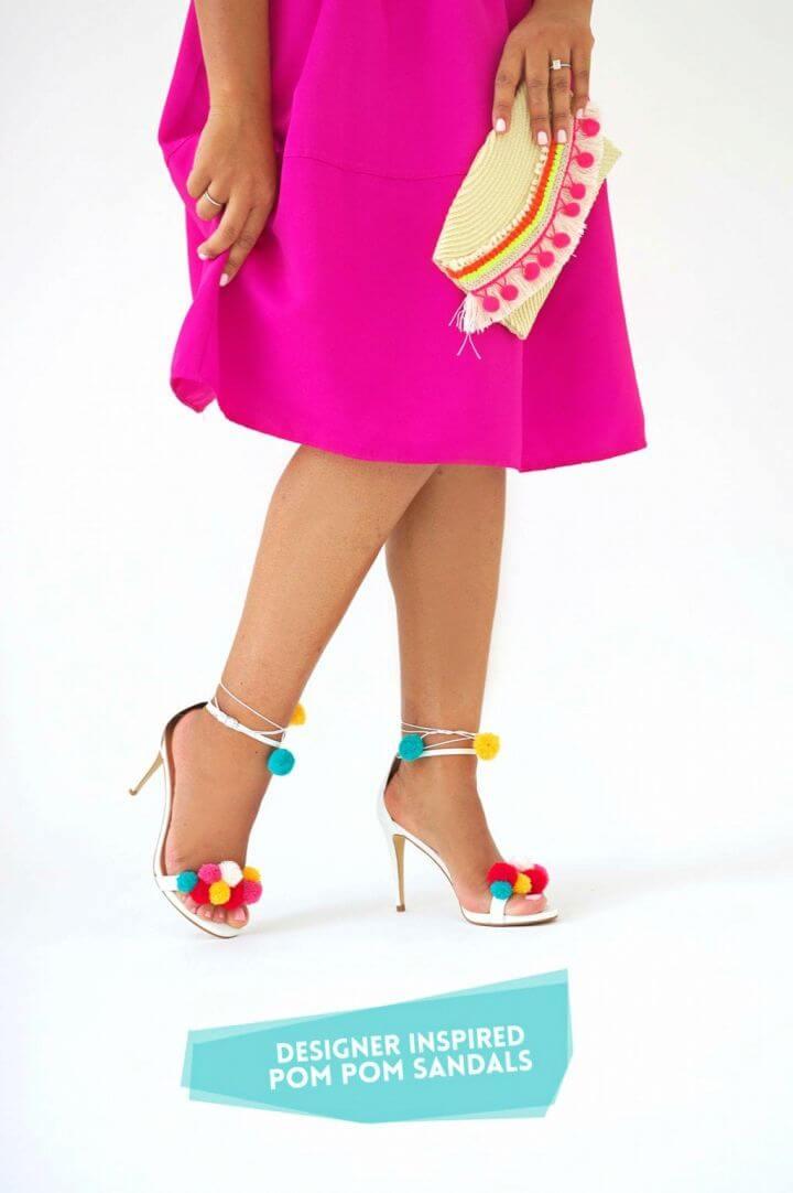 How to Make Pom Pom Sandals