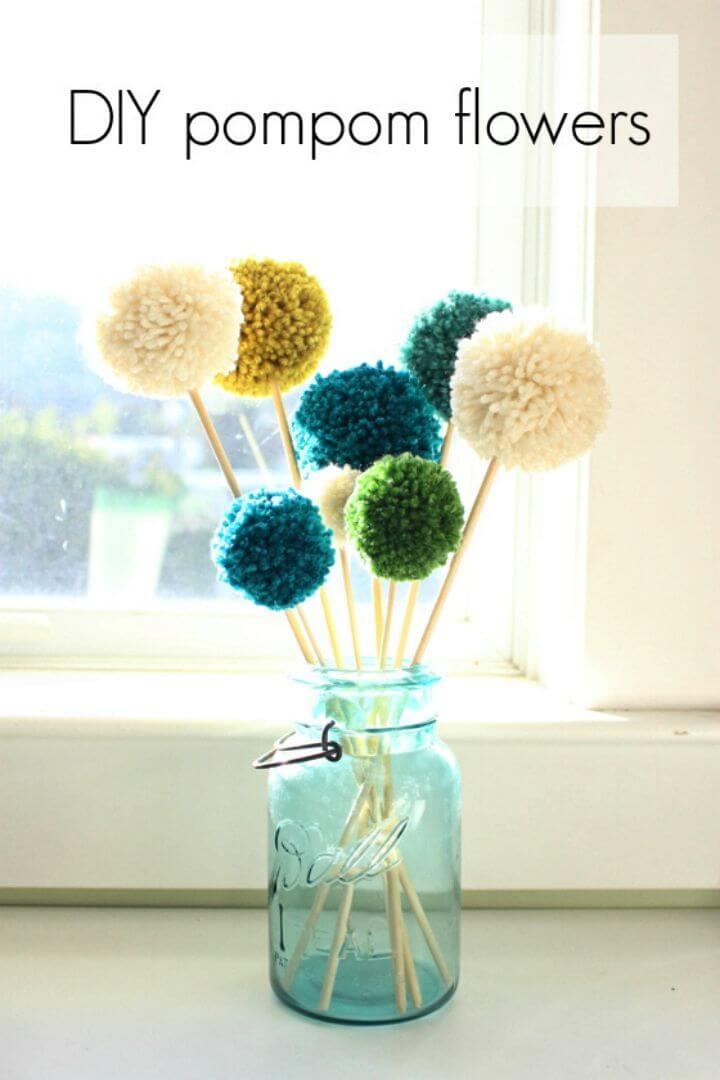 How to Make Pompom Flowers