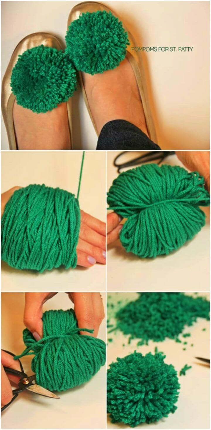 How to Make Pompom Shoe Clip