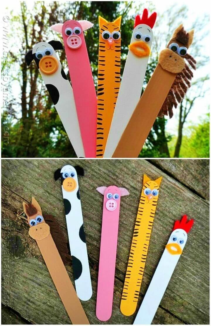 How to Make Popsicle Stick Barnyard Farm Animals