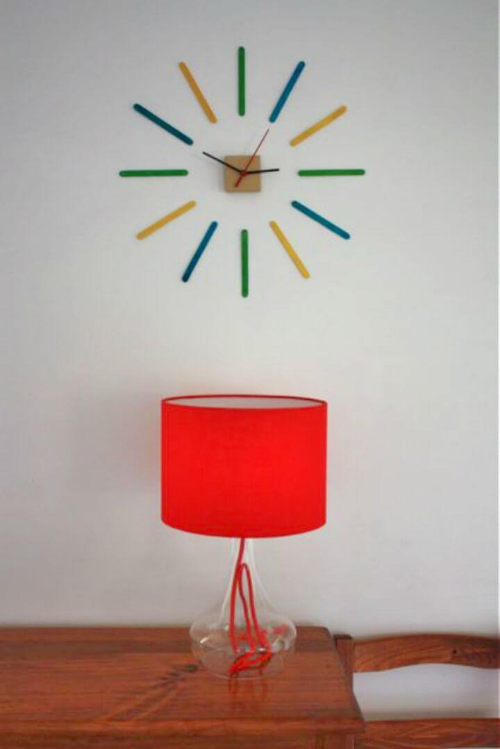 How to Make Popsicle Sticks Clock