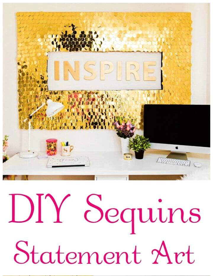 How to Make Sequins Wall Art