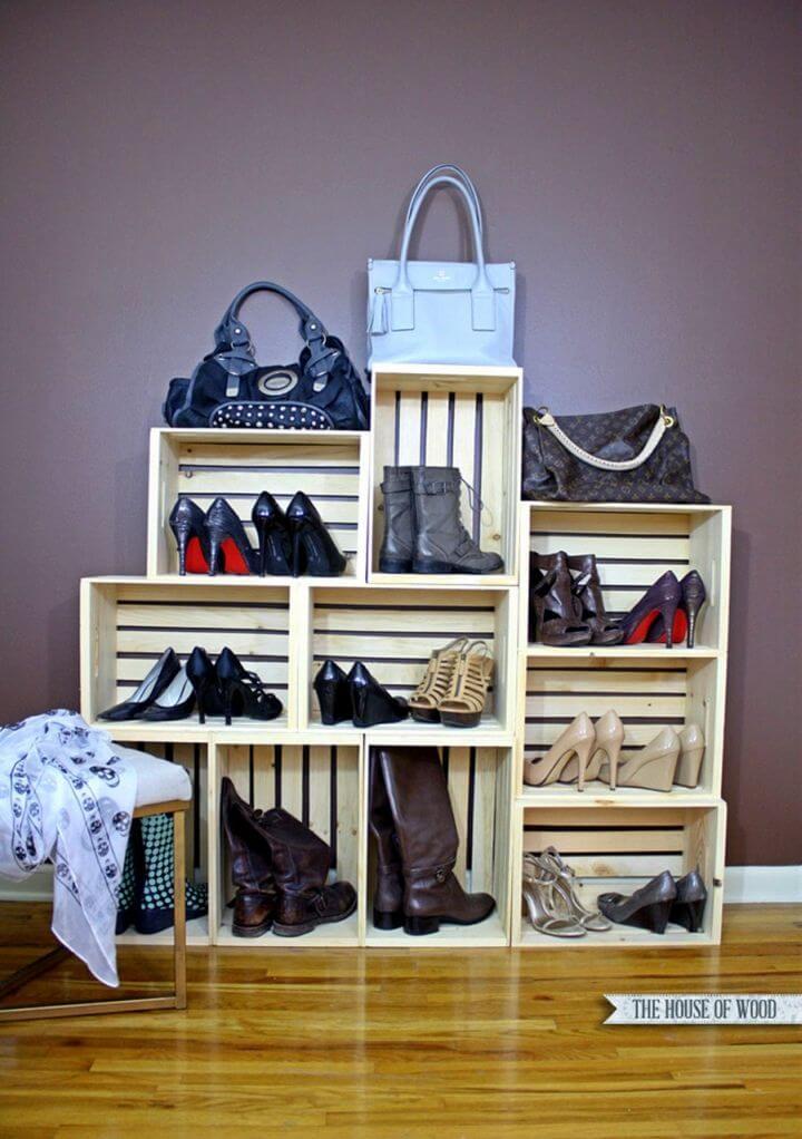 How to Make Shoe Storage Display