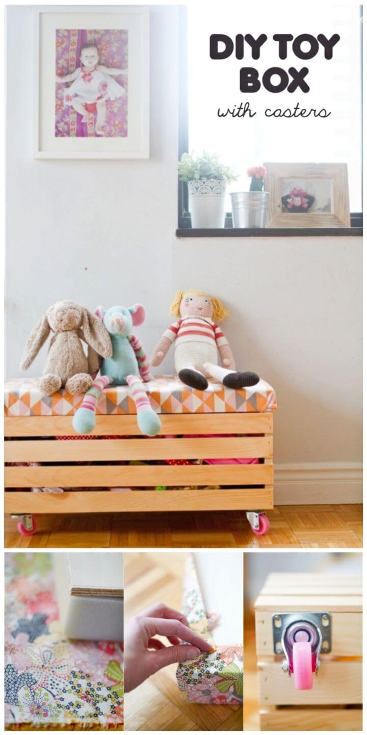 How to Make Toy Box With Casters