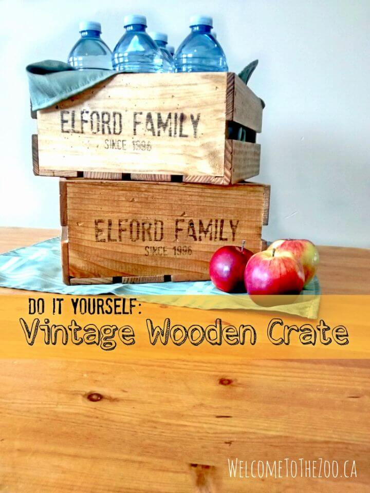 How to Make Vintage Wooden Crate