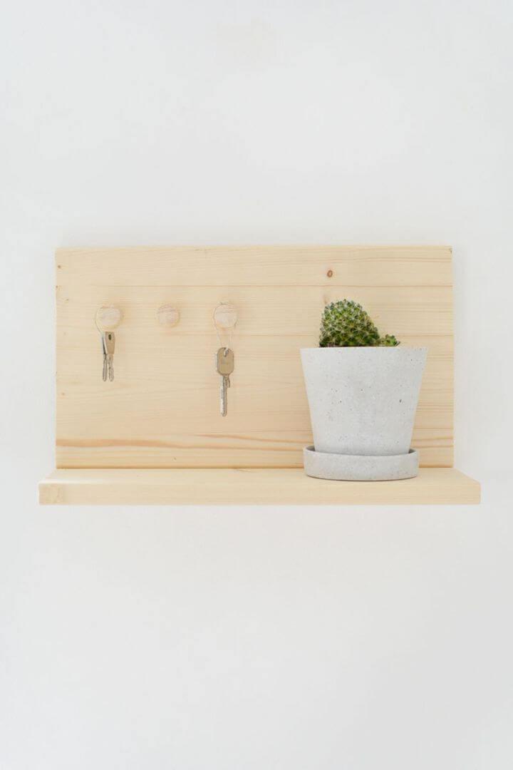How to Make Wooden Key Shelf