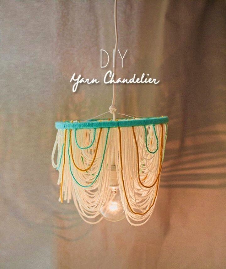 How to Make Yarn Chandelier
