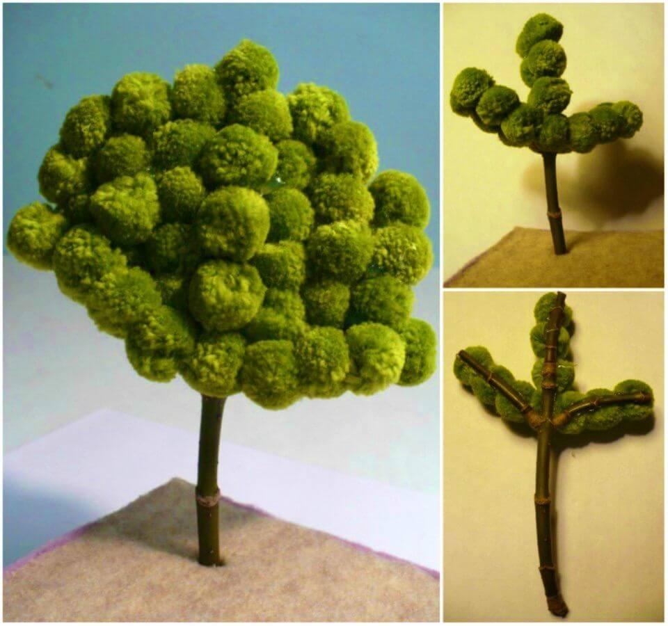 How to Make a Miniature Pom Pom Tree